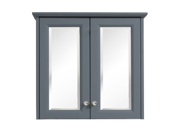 Caversham 2 door mirror wall cabinet Graphite