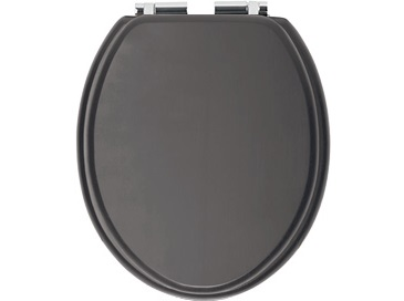 Toilet Seat Soft Close Chrome Hinge Graphite