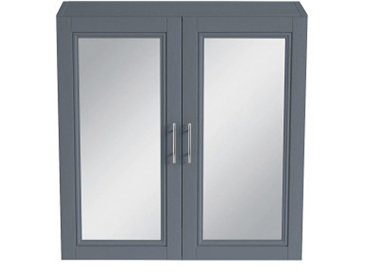 Caversham 640mm Mirror Wall Cabinet Graphite