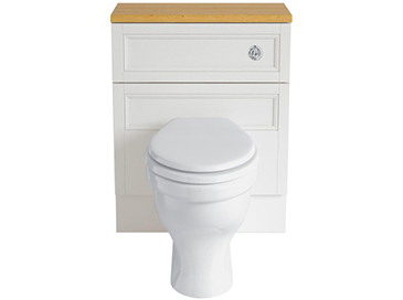 Caversham 640mm WC Unit White Ash