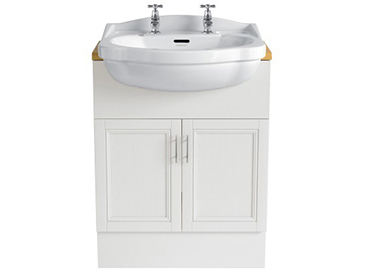 Caversham 640mm Vanity Unit White Ash