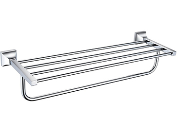Chancery Double Bathroom Towel Shelf Chrome
