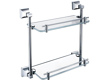 Chancery Double Glass Shelf Chrome