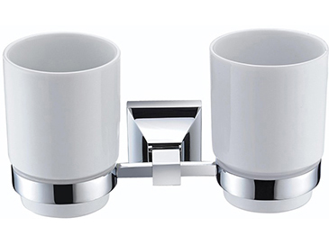 Chancery Double Tumbler & Holder Chrome