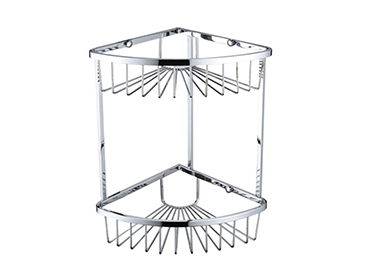 2 Tier Wire Basket 320x200x200mm Chrome