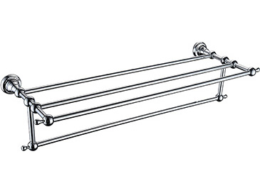 Holborn Double Bathroom Towel Shelf Chrome