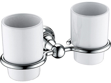 Holborn Double Tumbler & Holder Chrome