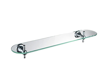 Holborn Single Glass Shelf Chrome