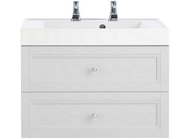 Caversham WH Vanity Unit 2 Drawer Dove Grey