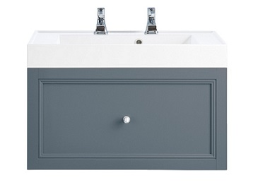 Caversham WH Vanity Unit 1 Drawer Graphite
