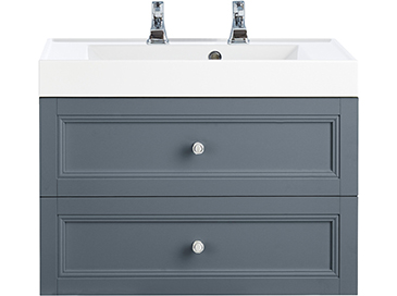 Caversham WH Vanity Unit 2 Drawer Graphite