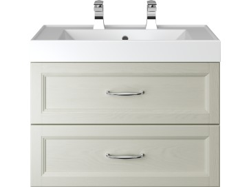 Caversham WH Vanity Unit 2 Drawer Oyster