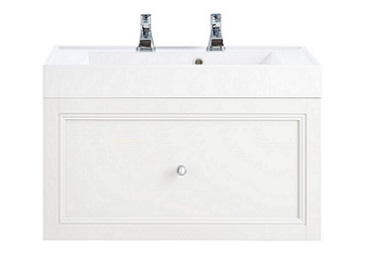 Caversham WH Vanity Unit 1 Drawer White Ash