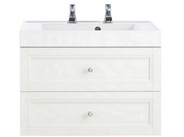 Caversham WH Vanity Unit 2 Drawer White Ash