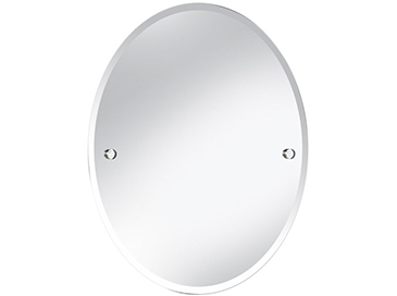 Harlesden Oval 610x500mm Mirror Chrome