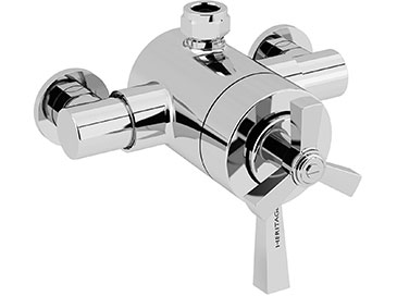 Gracechurch Exposed Shower Valve with Top Outlet Connection Chrome