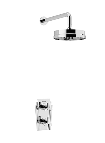 Gracechurch Recessed Thermostatic Dual Control Shower Valve with Deluxe Fixed Head Kit Chrome