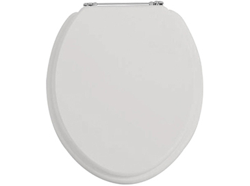 Toilet Seat Chrome Hinge Dove Grey