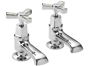 Gracechurch Basin Taps Chrome & Mother of Pearl
