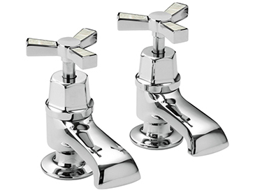 Gracechurch Bath Taps Chrome & Mother of Pearl