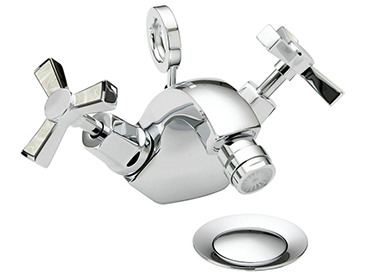Gracechurch Bidet Mixer Chrome & Mother of Pearl
