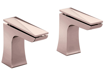 Hemsby Bath Taps Rose Gold