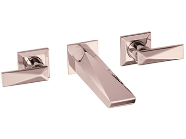 Hemsby Wall Mounted Basin Mixer Rose Gold