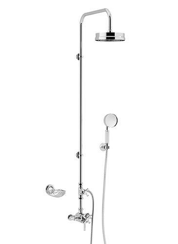 Somersby Exposed Thermostatic Dual Control Shower Valve with Deluxe Fixed Riser Kit and Diverter to Handset Chrome
