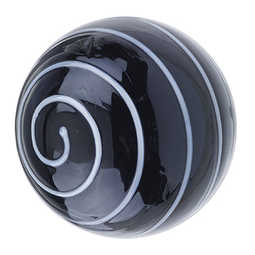 Glass Spiral Door Knob Black/White
