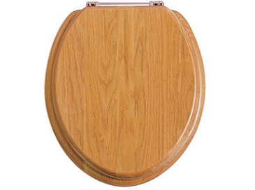 Toilet Seat Rose Gold Hinge Oak