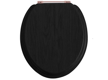 Toilet Seat Rose Gold Hinge Black