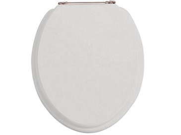 Toilet Seat Rose Gold Hinge Dove Grey