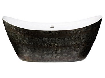 Alderley Mock Croc Leather Effect Freestanding Acrylic Bath