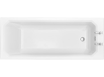 Granley Deco SE 1700x700 Fitted Acrylic Bath 2TH Solid Skin