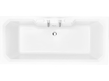 Granley DE 1800x800 Fitted Acrylic Bath 2TH Solid Skin