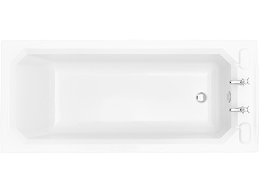 Granley SE 1700x750 Fitted Acrylic Bath 2TH Solid Skin