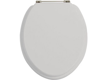 Toilet Seat Vintage Gold Hinge Dove Grey