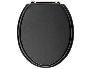 Toilet Seat Rose Gold Hinge Graphite
