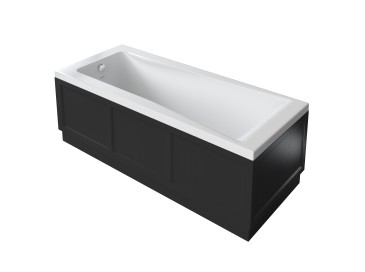 Caversham 1700mm Bath Panel Black