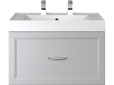 Caversham 700mm Wall Hung Vanity Unit 1 Drawer Dove Grey