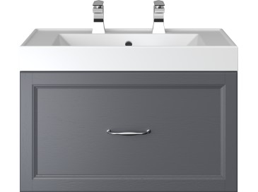 Caversham 700mm Wall Hung Vanity Unit 1 Drawer Graphite