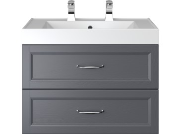 Caversham 700mm Wall Hung Vanity Unit 2 Drawer Graphite