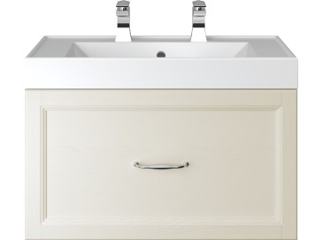 Caversham 700mm Wall Hung Vanity Unit 1 Drawer Ivory Lace