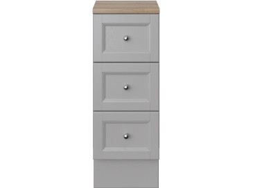 Caversham 300mm 3 Drawer Base Unit Dove Grey
