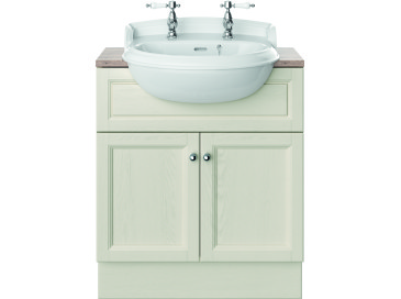 Caversham 700mm Vanity Unit Ivory Lace
