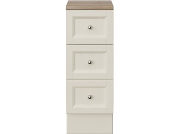 Caversham 300mm 3 Drawer Base Unit Ivory Lace