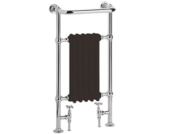 Baby Clifton Heated Towel Rail Chrome Black Bars
