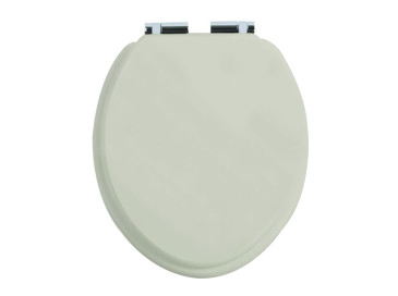 Toilet Seat Chrome Soft Close Hinge Ivory Lace