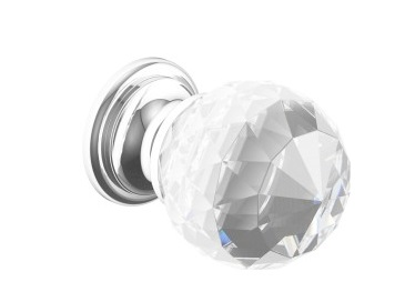 Crystal & Chrome Door Knob