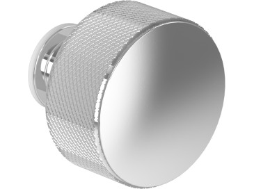 Chrome & Knurling Pattern Door Knob
